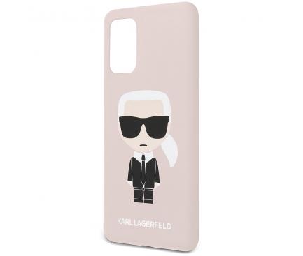 Husa TPU Karl Lagerfeld Ikonik Full Body pentru Samsung Galaxy S20 Plus G985 / Samsung Galaxy S20 Plus 5G G986, Roz, Blister KLHCS67SLFKPI
