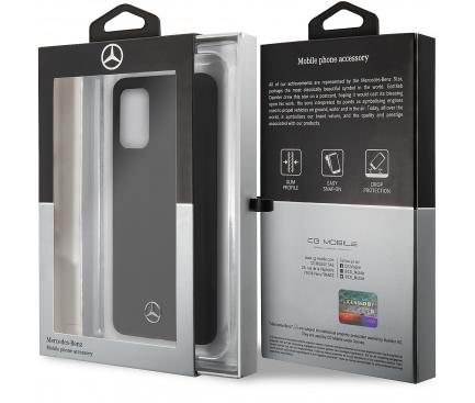 Husa TPU MERCEDES Silicone pentru Samsung Galaxy S20 G980 / Samsung Galaxy S20 5G G981, Neagra, Blister MEHCS62SILSB