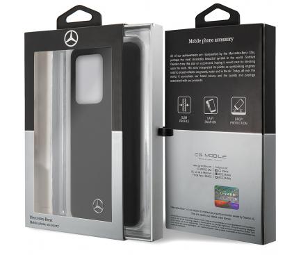 Husa TPU MERCEDES Silicone pentru Samsung Galaxy S20 Ultra G988 / Samsung Galaxy S20 Ultra 5G G988, Neagra, Blister MEHCS69SILSB