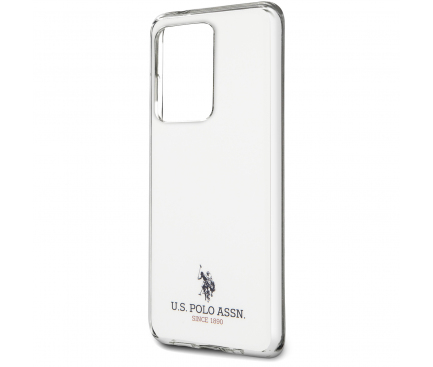 Husa TPU U.S. Polo Small Horse pentru Samsung Galaxy S20 Ultra G988 / Samsung Galaxy S20 Ultra 5G G988, Alba, Blister USHCS69TPUWH