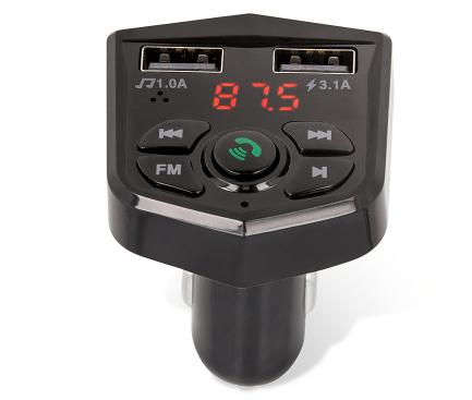 Modulator FM Bluetooth Maxlife, Mp3 Player, Buton de apel, Negru, Blister MXFT-02