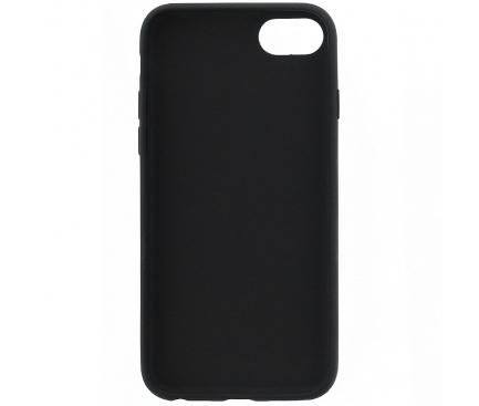 Husa Piele Guess Iridescent pentru Apple iPhone 7 / Apple iPhone 8 / Apple iPhone SE (2020), Neagra, Blister GUHCI8GLBK