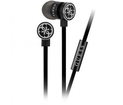 Handsfree Casti In-Ear Guess, Cu microfon, 3.5 mm, Negru, Blister GUEPWIBK