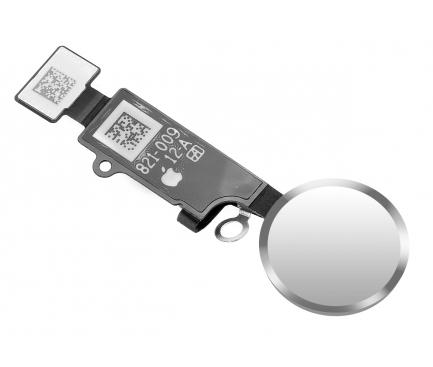Ornament Buton Meniu Apple iPhone 7 / Apple iPhone 7 Plus / Apple iPhone 8 Plus, Alb Argintiu
