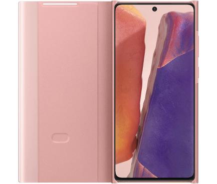 Husa Samsung Galaxy Note 20 N980 / Samsung Galaxy Note 20 5G N981, Clear View, Bronz, Blister EF-ZN980CAEGEU