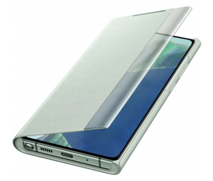 Husa Samsung Galaxy Note 20 N980 / Samsung Galaxy Note 20 5G N981, Clear View, Vernil, Blister EF-ZN980CMEGEU