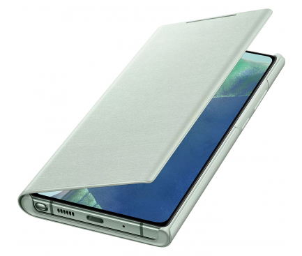 Husa Samsung Galaxy Note 20 N980 / Samsung Galaxy Note 20 5G N981, Led Wallet Cover, Vernil, Blister EF-NN980PMEGEU