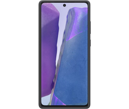 Husa TPU Samsung Galaxy Note 20 N980 / Samsung Galaxy Note 20 5G N981, Silicone Cover, Neagra, Blister EF-PN980TBEGEU