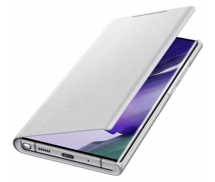 Husa Samsung Galaxy Note 20 Ultra N985 / Samsung Galaxy Note 20 Ultra 5G N986, Led Wallet Cover, Alba, Blister EF-NN985PSEGEU