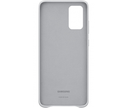 Husa Piele Samsung Galaxy S20 Plus G985 / Samsung Galaxy S20 Plus 5G G986, Leather Cover, Gri Deschis, Blister EF-VG985LSEGEU