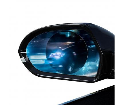 Set Folie rezistenta la ploaie pentru oglinda retrovizoare auto, Baseus, 0.15mm, 2 buc x 95*95mm, Transparenta, SGFY-B02