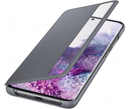 Husa Plastic Samsung Galaxy S20 Plus G985 / Samsung Galaxy S20 Plus 5G G986, Clear View, Gri, Blister EF-ZG985CJEGEU