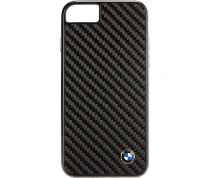 Husa Fibra Carbon BMW Signature pentru Apple iPhone 8 / Apple iPhone SE (2020), Neagra, Blister BMHCI8MBC