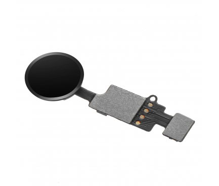 Ansamblu Buton Meniu OEM pentru Apple iPhone 8, Conectare Bluetooth, Cu banda, Negru