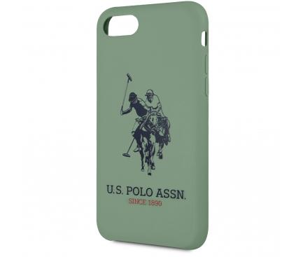 Husa TPU U.S. Polo Big Horse pentru Apple iPhone 8 / Apple iPhone SE (2020), Verde, Blister USHCI8SLHRGN
