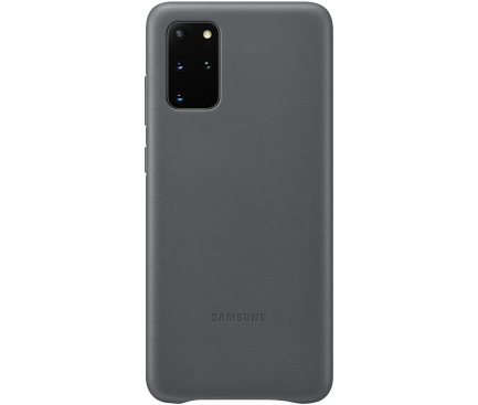 Husa Piele Samsung Galaxy S20 Plus G985 / Samsung Galaxy S20 Plus 5G G986, Leather Cover, Gri, Blister EF-VG985LJEGEU