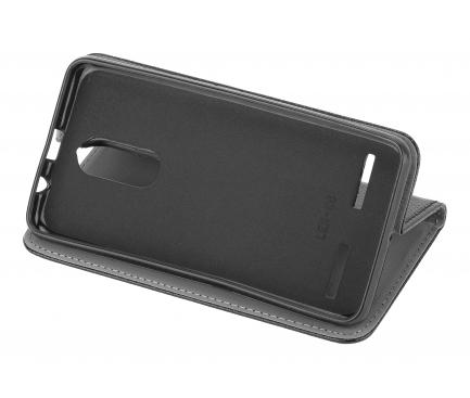 Husa Piele OEM Smart Magnet pentru Xiaomi Mi 10 Lite 5G, Neagra, Bulk
