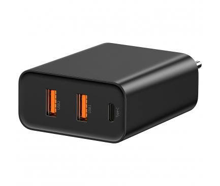 Incarcator Retea USB Baseus Speed PPS QC3.0, 1 X USB Tip-C - 2 X USB, Negru, Blister CCFS-G01