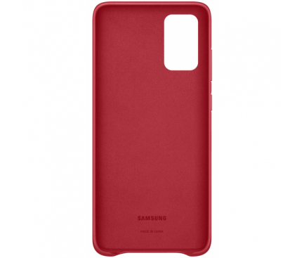 Husa Piele Samsung Galaxy S20 Plus G985 / Samsung Galaxy S20 Plus 5G G986, Leather Cover, Rosie, Bulk EF-VG985LREG