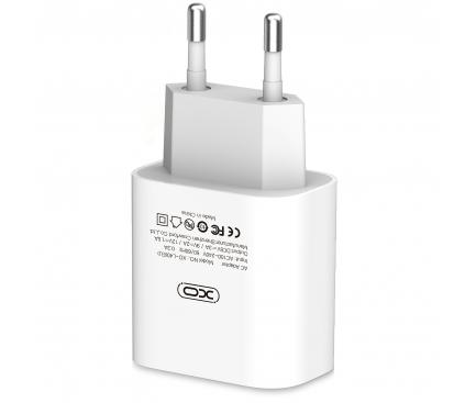 Incarcator Retea USB XO Design L40, PD 18W, 1 X USB, Alb, Blister