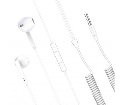 Handsfree Casti EarBuds XO Design EP7, Cu microfon, 3.5mm, Alb, Blister