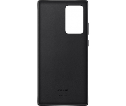 Husa Piele Samsung Galaxy Note 20 Ultra N985 / Samsung Galaxy Note 20 Ultra 5G N986, Leather Cover, Neagra, Blister EF-VN985LBEGEU