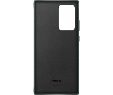 Husa Piele Samsung Galaxy Note 20 Ultra N985 / Samsung Galaxy Note 20 Ultra 5G N986, Leather Cover, Verde, Blister EF-VN985LGEGEU