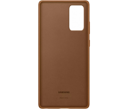 Husa Piele Samsung Galaxy Note 20 N980 / Samsung Galaxy Note 20 5G N981, Leather Cover, Maro, Blister EF-VN980LAEGEU