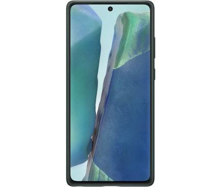 Husa Piele Samsung Galaxy Note 20 N980 / Samsung Galaxy Note 20 5G N981, Leather Cover, Verde, Blister EF-VN980LGEGEU