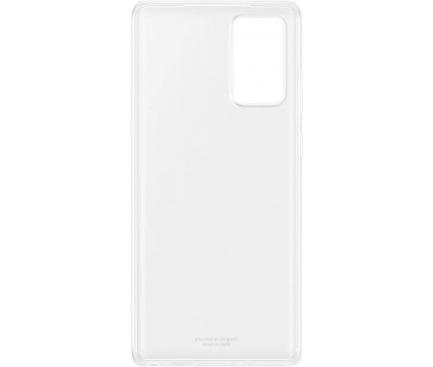 Husa TPU Samsung Galaxy Note 20 N980 / Samsung Galaxy Note 20 5G N981, Clear Cover, Transparenta, Blister EF-QN980TTEGEU