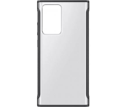 Husa Samsung pentru Samsung Galaxy Note 20 Ultra N985 / Samsung Galaxy Note 20 Ultra 5G N986, Clear Protective, Neagra, Blister EF-GN985CBEGEU