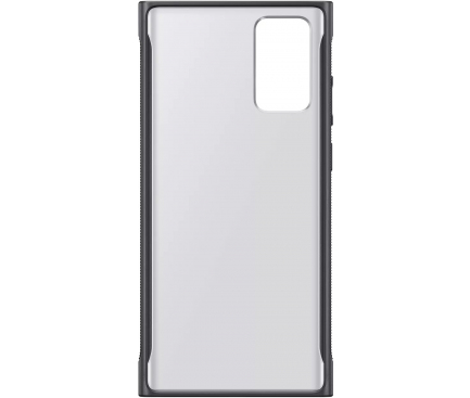 Husa Samsung Galaxy Note 20 N980 / Samsung Galaxy Note 20 5G N981, Clear Protective, Neagra, Blister EF-GN980CBEGEU