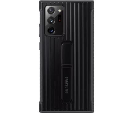 Husa Samsung Galaxy Note 20 Ultra N985 / Samsung Galaxy Note 20 Ultra 5G N986, Protective Standing Cover, Neagra, Blister EF-RN985CBEGEU