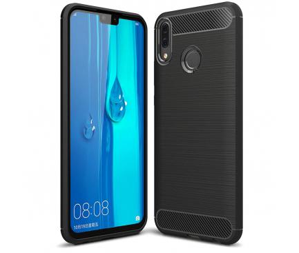 Husa TPU OEM Carbon pentru Huawei Y9 (2019), Neagra, Bulk