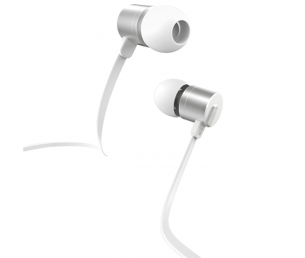 Handsfree Casti In-Ear HOCO M63 Ancient Sound, Cu microfon, 3.5 mm, Argintiu, Blister
