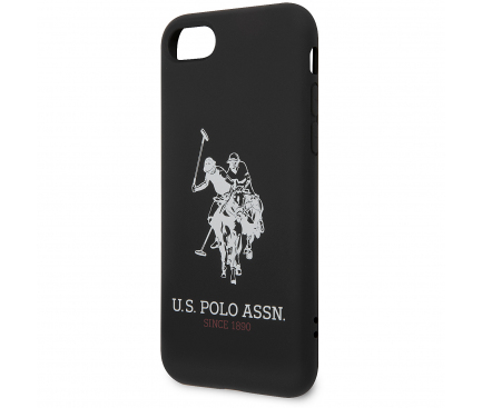 Husa TPU U.S. Polo Big Horse pentru Apple iPhone 8 / Apple iPhone SE (2020), Neagra, Blister USHCI8SLHRBK