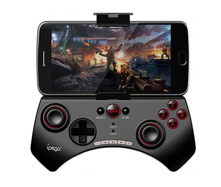 Gamepad Bluetooth cu suport telefon iPega 9025 Fortnite, compatibil Android/PC/PS3/N-Switch/Smart TV, Negru Blister Original