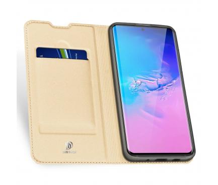 Husa Piele DUX DUCIS Skin Pro pentru Samsung Galaxy S20 Ultra G988 / Samsung Galaxy S20 Ultra 5G G988, Aurie, Blister