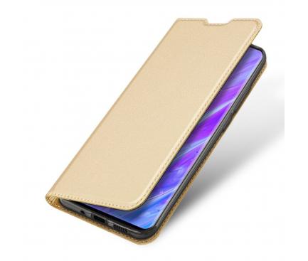 Husa Piele DUX DUCIS Skin Pro pentru Samsung Galaxy S20 G980 / Samsung Galaxy S20 5G G981, Aurie, Blister