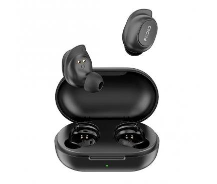 Handsfree Casti Bluetooth QCY T9S TWS, SinglePoint, Negru, Blister