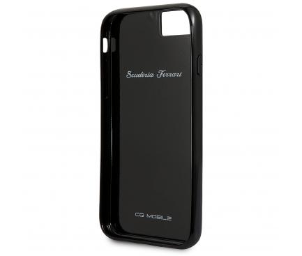 Husa Plastic Ferrari Carbon Heritage pentru Apple iPhone 8 / Apple iPhone SE (2020), Neagra, Blister FEHCAHCI8BK