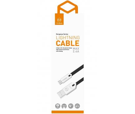 Cablu Date si Incarcare USB la MicroUSB McDodo Gorgeous CA-0834, 2.4A, 1 m, Negru, Blister