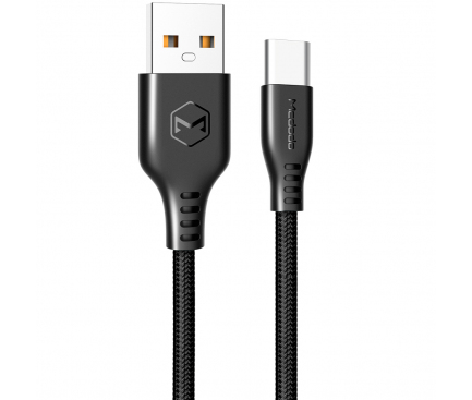 Cablu Date si Incarcare USB la USB Type-C McDodo Warrior CA-5170, 2.4A, 1 m, Negru, Blister