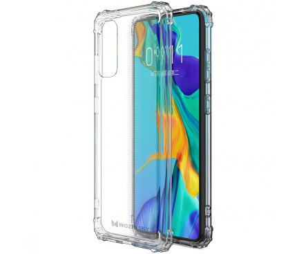 Husa TPU WZK Military Antisoc pentru Samsung Galaxy S20 G980 / Samsung Galaxy S20 5G G981, Transparenta, Blister