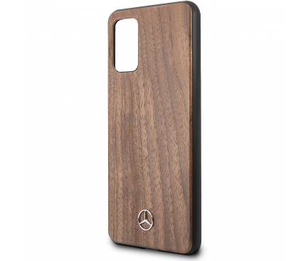 Husa Plastic - TPU MERCEDES Wood pentru Samsung Galaxy S20 Plus G985 / Samsung Galaxy S20 Plus 5G G986, Maro, Blister MEHCS67VWOLB
