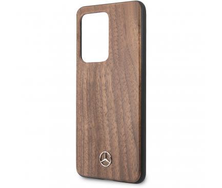 Husa Plastic - TPU MERCEDES Wood pentru Samsung Galaxy S20 Ultra G988 / Samsung Galaxy S20 Ultra 5G G988, Maro, Blister MEHCS69VWOLB