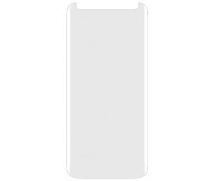 Folie Protectie Ecran BLUE Shield pentru Apple iPhone X / Apple iPhone XS, Sticla securizata, Full Face, Full Glue, 3D, UV, Blister