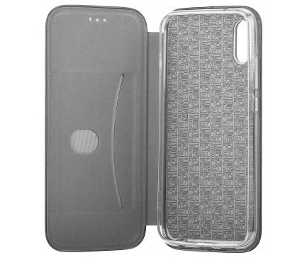 Husa Piele OEM Elegance pentru Xiaomi Redmi 9, Neagra, Bulk