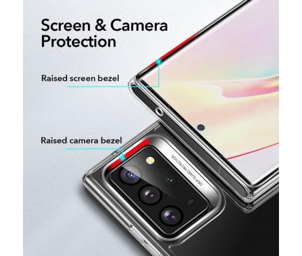 Husa TPU ESR Ice Shield, cu spate din sticla pentru Samsung Galaxy Note 20 N980 / Samsung Galaxy Note 20 5G N981, Transparenta, Blister