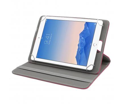 Husa Piele Enkay 360 Rotation pentru Tableta 10 inci, Roz, Bulk